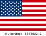flag of the united states of... | Shutterstock .eps vector #589383242