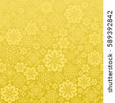 chinese golden background with... | Shutterstock .eps vector #589392842