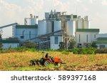 ethanol industrial refinery... | Shutterstock . vector #589397168