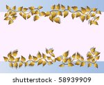 banner with golden leaves....
