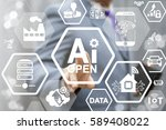 ai open industry 4.0 business... | Shutterstock . vector #589408022