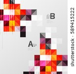 square elements with... | Shutterstock .eps vector #589415222