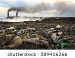 industrial waste and air...   Shutterstock . vector #589416266