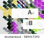 colorful lines  rectangles and... | Shutterstock .eps vector #589417292