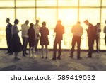 abstract blur silhouette many... | Shutterstock . vector #589419032