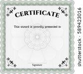 vector illustration of  diploma ... | Shutterstock .eps vector #589423016
