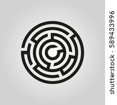 labyrinth icon. maze and... | Shutterstock .eps vector #589433996