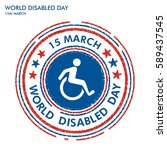 world disabled day stamp | Shutterstock .eps vector #589437545