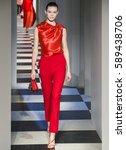 new york  ny   february 13 ... | Shutterstock . vector #589438706