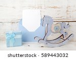 greeting children form with... | Shutterstock . vector #589443032