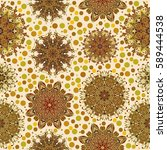 set mandala for coloring book.... | Shutterstock .eps vector #589444538
