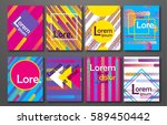 flyer pattern collection with... | Shutterstock .eps vector #589450442