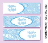 purim banners collection with... | Shutterstock .eps vector #589452782