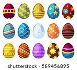 easter eggs spring colorful...   Shutterstock .eps vector #589456895