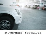 many cars in parking garage... | Shutterstock . vector #589461716