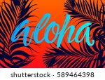 summer party beach poster.... | Shutterstock .eps vector #589464398