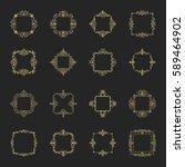 huge rosette wicker border... | Shutterstock .eps vector #589464902