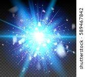 blue glitter particles... | Shutterstock .eps vector #589467842