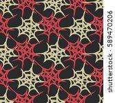 stylized cobweb seamless... | Shutterstock .eps vector #589470206
