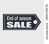 sale tag. end of season. vector ... | Shutterstock .eps vector #589478978