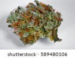 close up of medical marijuana... | Shutterstock . vector #589480106