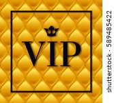 Vip Abstract Golden Quilted...