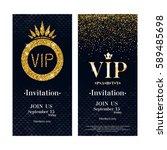 vip party premium invitation... | Shutterstock .eps vector #589485698