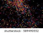colorful explosion of confetti. ... | Shutterstock . vector #589490552