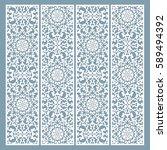 laser cut decorative lace... | Shutterstock .eps vector #589494392