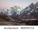 himalayas mountains after... | Shutterstock . vector #589495712