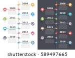 vertical timeline infographics... | Shutterstock .eps vector #589497665