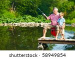 photo of grandfather and... | Shutterstock . vector #58949854
