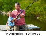 photo of grandfather and... | Shutterstock . vector #58949881