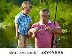 photo of grandfather and... | Shutterstock . vector #58949896