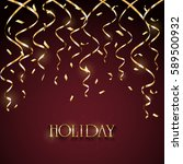 gold lettering holiday with...   Shutterstock .eps vector #589500932