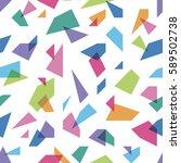 color splinters seamless pattern   Shutterstock .eps vector #589502738