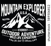 mountain explorer  outdoor... | Shutterstock .eps vector #589506812