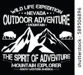 wild life expedition  outdoor... | Shutterstock .eps vector #589506896