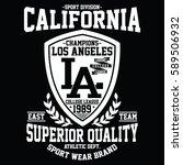 california sport division ... | Shutterstock .eps vector #589506932