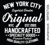 new york city superior denim ... | Shutterstock .eps vector #589507106