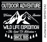 wild life expedition  outdoor... | Shutterstock .eps vector #589507142