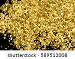 gold glitter texture isolated... | Shutterstock . vector #589512008