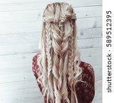 Stylish Hairstyle. Closeup...