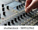 sound mixer control panel | Shutterstock . vector #589512962