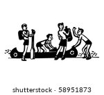 boys loading canoe   summer camp | Shutterstock .eps vector #58951873