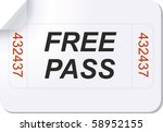 illustration of a ticket with... | Shutterstock .eps vector #58952155