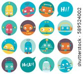 seamless pattern with cute... | Shutterstock .eps vector #589524002