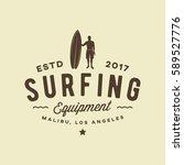 surfing logo. vintage outdoor...   Shutterstock .eps vector #589527776