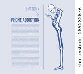 smartphone addiction... | Shutterstock .eps vector #589532876