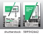 green color scheme with city... | Shutterstock .eps vector #589542662
